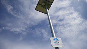La 100ème borne Wfi gratuite de Tours métropole est située sur une aire de camping-car. Elle est totalement autonome
